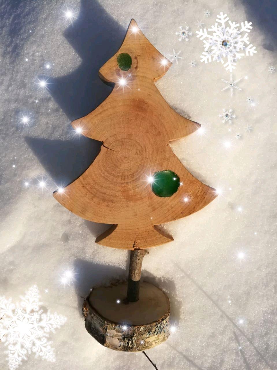The tree of wooden interior decorative Loft colorblock, Tree, Permian, Фото №1