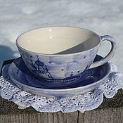 Чашки ручной работы. Ярмарка Мастеров - ручная работа Чашка с блюдцем Монастырь. Handmade.