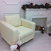Для дома и интерьера ручной работы. Ярмарка Мастеров - ручная работа Чехол для мебели ручной вязки. Handmade.