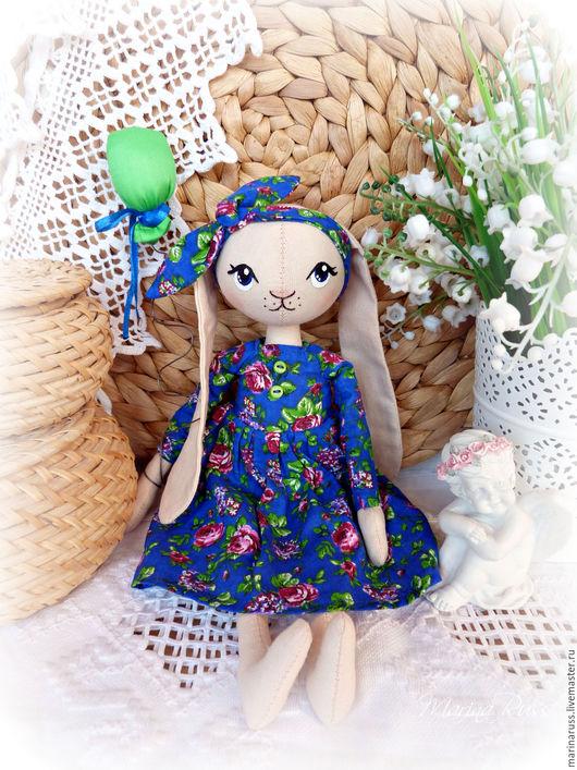 Коллекционные куклы ручной работы. Ярмарка Мастеров - ручная работа. Купить Зайка. Handmade. Зайка игрушка, интерьерная кукла, комбинированный