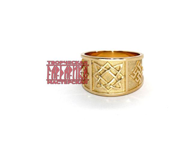 Перстень `Звезда Руси`. Золото