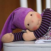 Куклы и игрушки ручной работы. Ярмарка Мастеров - ручная работа Гномочка Виолетта - кукла игровая (46 см)  в вальдорфском стиле. Handmade.