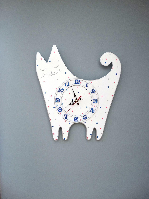 Детские настенные часы Веселый Кот, Часы, Москва, Фото №1
