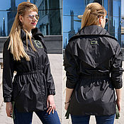 Одежда handmade. Livemaster - original item Women`s black windbreaker, fitted windbreaker, black jacket. Handmade.
