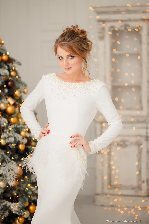 Wedding Dress Unique Wedding Dress Designer Wedding Dress Avgustina Kupit Na Yarmarke Masterov Elrclcom Platya Svadebnye Moscow