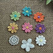 Аппликации ручной работы. Ярмарка Мастеров - ручная работа Кружевные элементы (цветочки). Handmade.