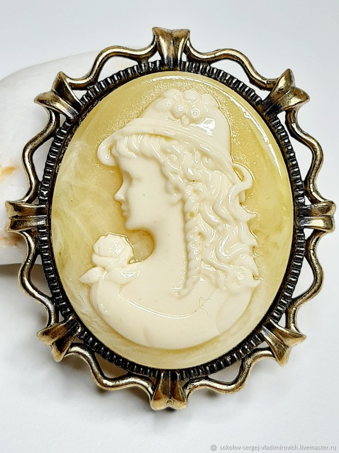 Brooch cameo Youth small, Brooches, Moscow,  Фото №1