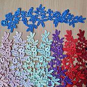 Аппликации ручной работы. Ярмарка Мастеров - ручная работа Цветные кружевные аппликации. Handmade.