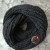 Аксессуары handmade. Livemaster - original item Knitted Snood Black haze. Handmade.