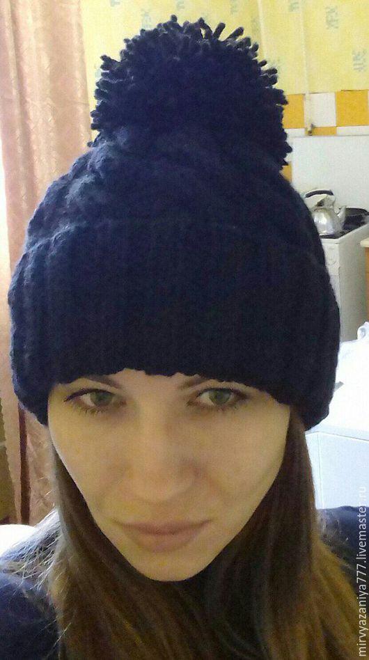 Шапки ручной работы. Ярмарка Мастеров - ручная работа. Купить Женская шапка. Handmade. Женская шапка, натуральные материалы, с помпоном