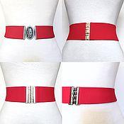 Аксессуары handmade. Livemaster - original item Belt-gum Medium Red and Bright, different price at different heights. Handmade.