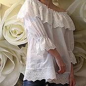 Одежда handmade. Livemaster - original item Blouse boho  Lacy. Handmade.