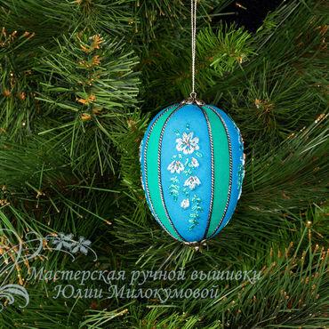 Подарки к праздникам handmade. Livemaster - original item Christmas toy Turquoise. Handmade.