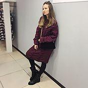 Одежда handmade. Livemaster - original item Plum dress knitted. Handmade.