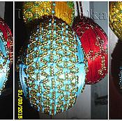 Подарки к праздникам ручной работы. Ярмарка Мастеров - ручная работа Золотистое пасхальное яйцо из бисера. Handmade.