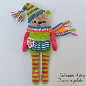 Куклы и игрушки handmade. Livemaster - original item Tim`s bear - a toy with a Squeaker, crocheted. Handmade.
