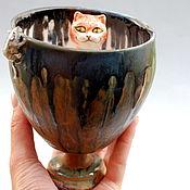 """Посуда ручной работы. Ярмарка Мастеров - ручная работа """"Кошки-мышки"""".Чаша керамическая.. Handmade."""
