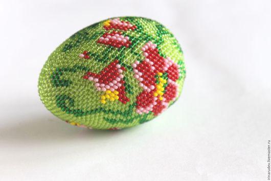 """Вязание ручной работы. Ярмарка Мастеров - ручная работа. Купить Набор для вязания бисером """"Пасхальное яйцо """"Цветы"""". Handmade."""