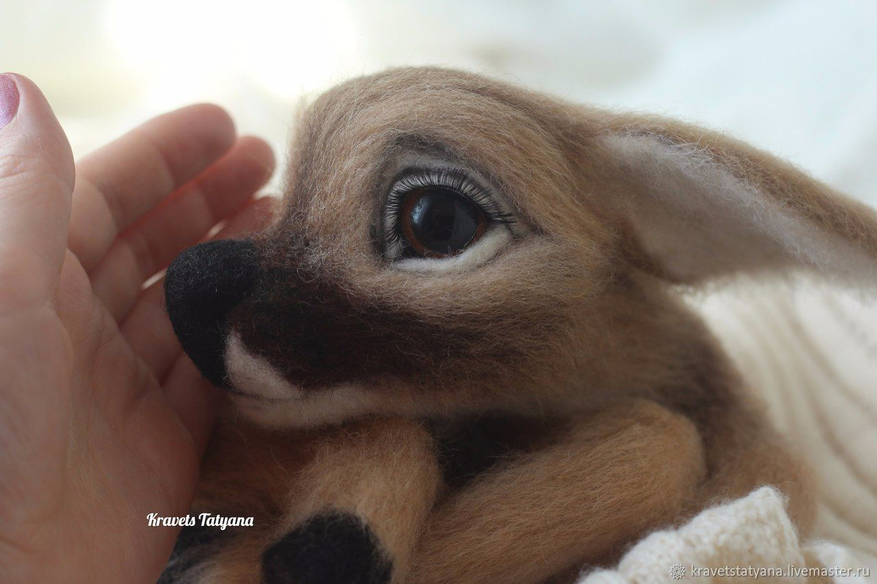Animal Toys handmade. Livemaster - handmade. Buy Copyright felted toy handmade the Deer Bambi:).Toy, fawn