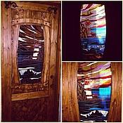 """Картины и панно ручной работы. Ярмарка Мастеров - ручная работа Дверной витраж """"Маяк"""". Handmade."""