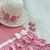 Работы для детей, handmade. Livemaster - original item Elegant set for girls