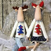 Куклы и игрушки ручной работы. Ярмарка Мастеров - ручная работа Лосики новогодние. Handmade.