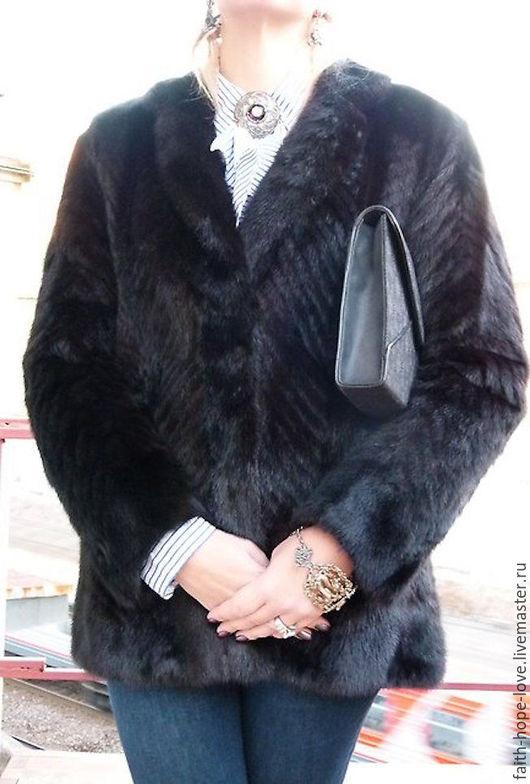 """Верхняя одежда ручной работы. Ярмарка Мастеров - ручная работа. Купить Норковая Шуба, Пиджак от Ателье """"Moonbat Fur"""" из Японии. Handmade."""
