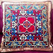 """Для дома и интерьера ручной работы. Ярмарка Мастеров - ручная работа Чехол для подушки с ручной вышивкой """"Шанти"""". Handmade."""