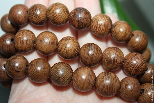 Для украшений ручной работы. Ярмарка Мастеров - ручная работа. Купить Венге, деревянные бусины   8 мм. Handmade.