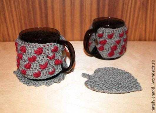 Кружки и чашки ручной работы. Ярмарка Мастеров - ручная работа. Купить Кружки ягодки. Handmade. Хаки, подстаканник, одежка, подарок