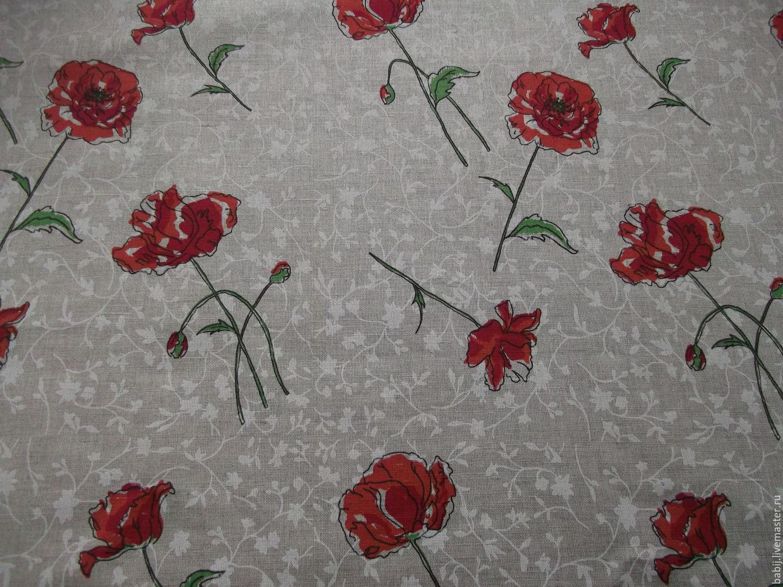 """Текстиль, ковры ручной работы. Ярмарка Мастеров - ручная работа. Купить Скатерть """"Маки"""" льняная. Handmade. Маки, льняная скатерть"""