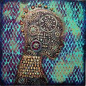 """Картины и панно ручной работы. Ярмарка Мастеров - ручная работа Декоративное панно """"AFRICA""""..... Handmade."""