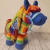 Мягкие игрушки ручной работы. Ярмарка Мастеров - ручная работа Лошадка Пони Карамелька. Handmade.