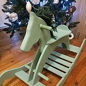 Игрушки-каталки ручной работы. Ярмарка Мастеров - ручная работа Деревянная лошадка - качалка. Handmade.