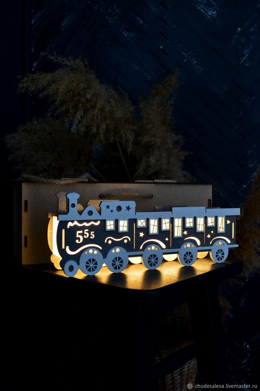 Organizer with illuminated ' Steam train', Shelves, Lipetsk,  Фото №1