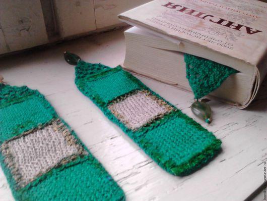 """Закладки для книг ручной работы. Ярмарка Мастеров - ручная работа. Купить Набор закладок  """"Песчаный берег"""".. Handmade. Комбинированный, зеленый"""