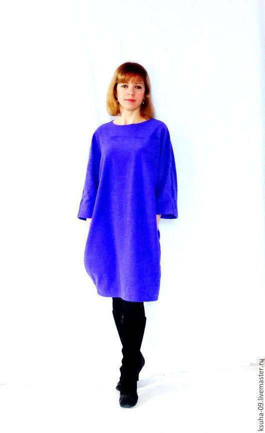 Платья ручной работы. Ярмарка Мастеров - ручная работа. Купить Платье теплое баллон из флиса. Handmade. Фиолетовый, платье из флис