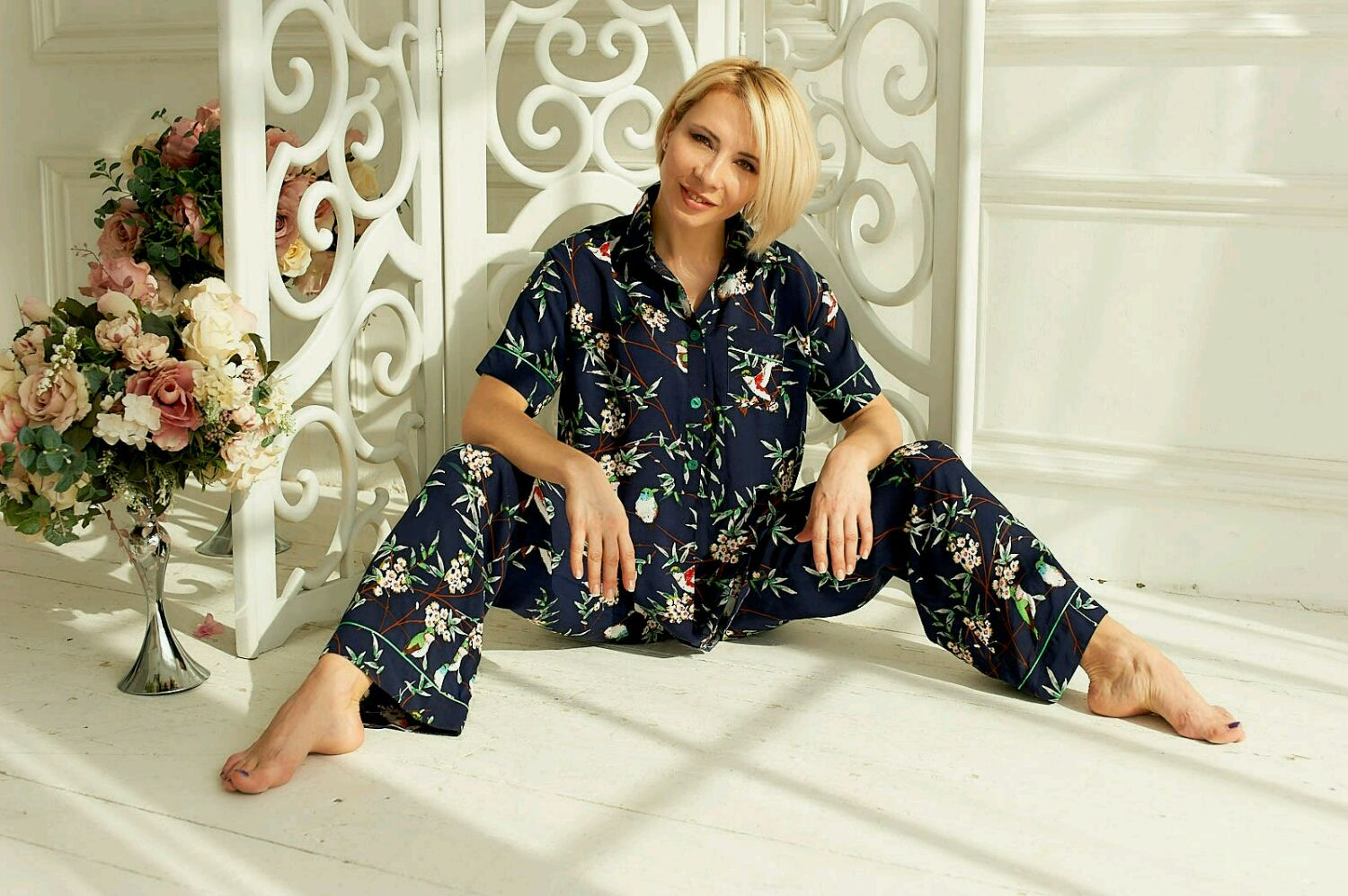 Pajama suit ' birds of Paradise', Suits, Moscow,  Фото №1