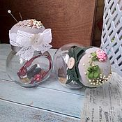 Материалы для творчества handmade. Livemaster - original item Needle boxes with silk ribbon embroidery. Handmade.