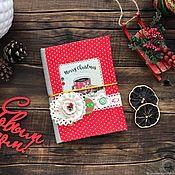 Канцелярские товары handmade. Livemaster - original item Cooking notebook New Year`s coffee (A6 format). Handmade.