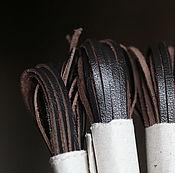 Материалы для творчества ручной работы. Ярмарка Мастеров - ручная работа Кожаный шнур (№11, ширина 3мм, толщ. 1,0-1,5мм). Handmade.