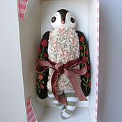 Куклы и игрушки ручной работы. Ярмарка Мастеров - ручная работа Мягкая игрушка птичка #12 с вышивкой розами. Handmade.