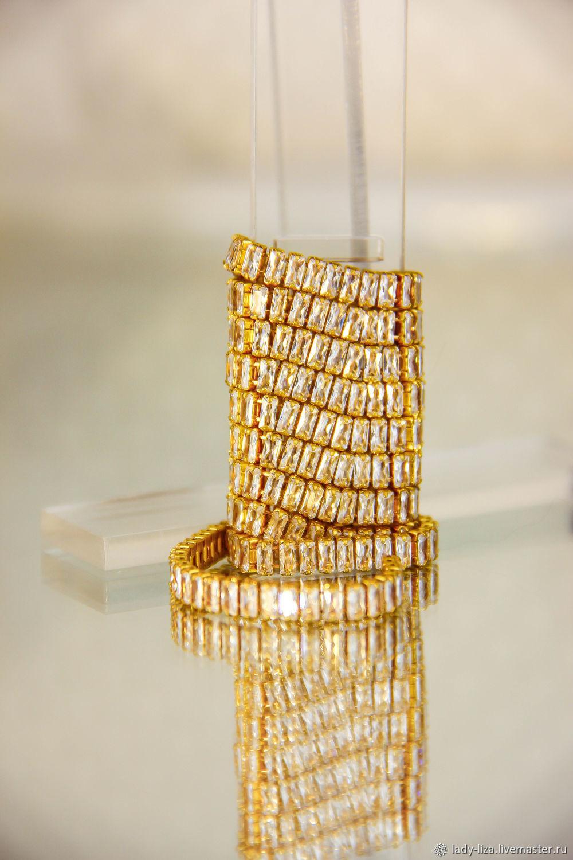 Premium Cubic Zirconia Rhinestone Chain. crystals: 4h2 mm. brass, Chains, Armavir,  Фото №1