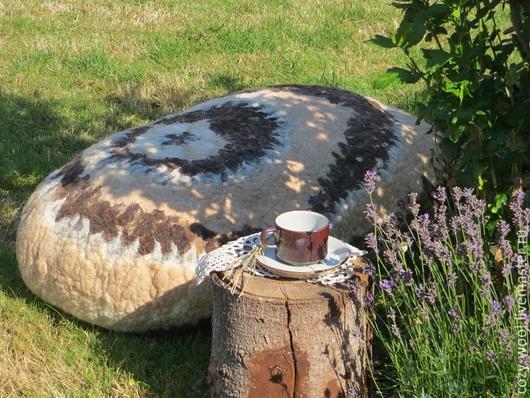 Текстиль, ковры ручной работы. Ярмарка Мастеров - ручная работа. Купить Войлочный камень Choco&Tiramisu. Handmade. Разноцветный, эко дизайн