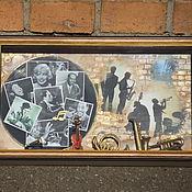 """Картины и панно ручной работы. Ярмарка Мастеров - ручная работа Панно """"Джаз, джаз, джаз..."""". Handmade."""