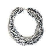 Украшения handmade. Livemaster - original item Multistrand Necklace Crystal and Pearl Choker Chunky Statement Jewelry. Handmade.