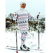 Одежда handmade. Livemaster - original item Knitted Norwegian sweater kit soft snowy and leggings. Handmade.