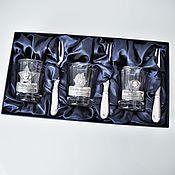 Сувениры и подарки handmade. Livemaster - original item A set of faceted stacks of NOSTALGIA with the three forks in box. Handmade.