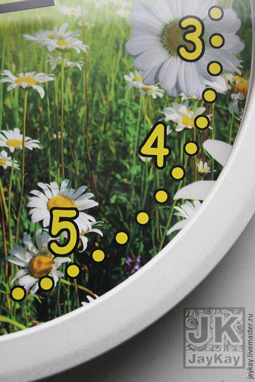 """Часы для дома ручной работы. Ярмарка Мастеров - ручная работа. Купить Часы настенные """"Ромашки"""". Handmade. Разноцветный, подарок в детскую"""