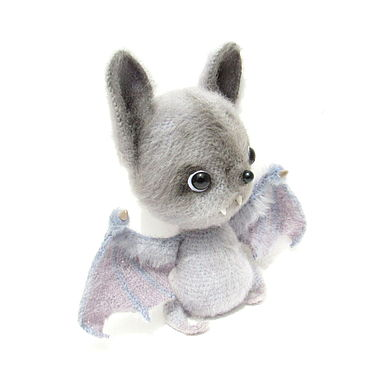 Dolls & toys handmade. Livemaster - original item Knitted toy mouse flying gray mouse rat. Handmade.